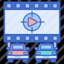 drive, film, movie, theater