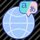 alphabet, globe, language, translation icon