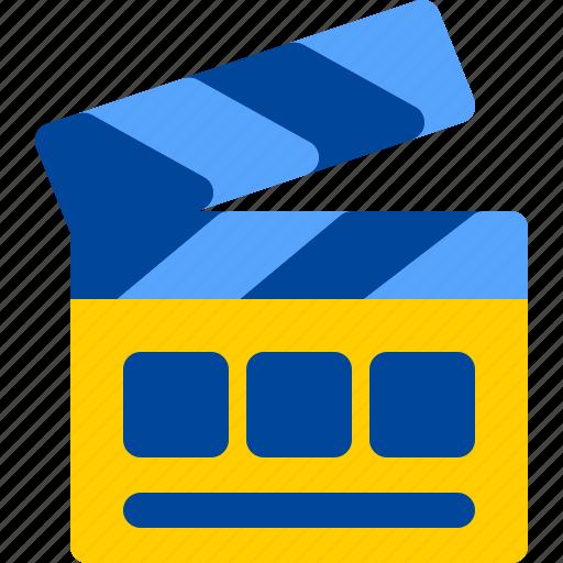board, clapper, cut, film, movie icon