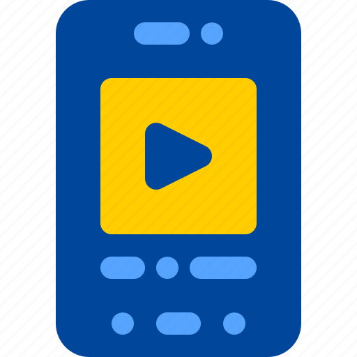 movie, smartphone, streaming, video, youtube icon