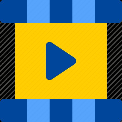 film, frame, movie, negative, play icon