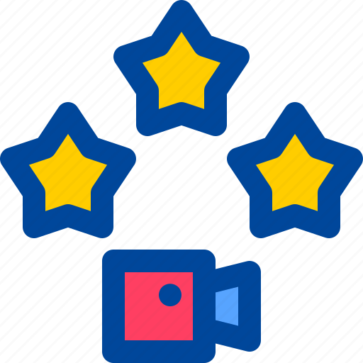 film, movie, rating, review, star icon