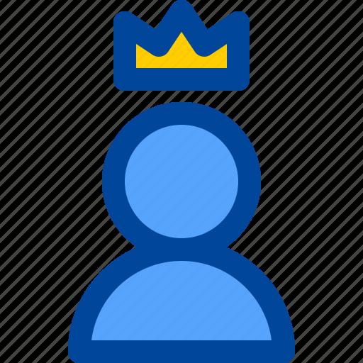 actor, crown, king, man, star icon