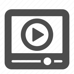 clip, film, movie, play, player, video, youtube icon