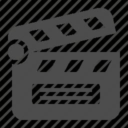 clapboard, clapper, film, movie, theater, theatre icon