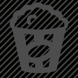movie, pop corn, popcorn icon