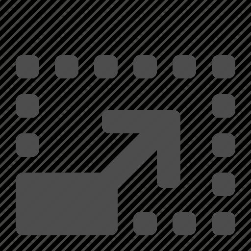 arrow, expand, full, full screen, maximize, screen icon