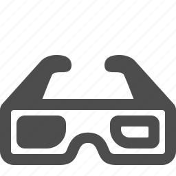 3d, 3d glasses, glasses, movie icon