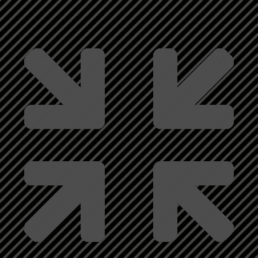 arrows, minimize, screen, video icon