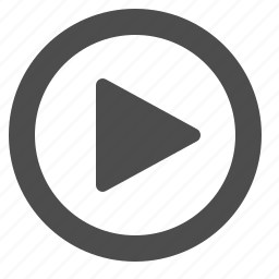 arrow, button, movie, play, video icon