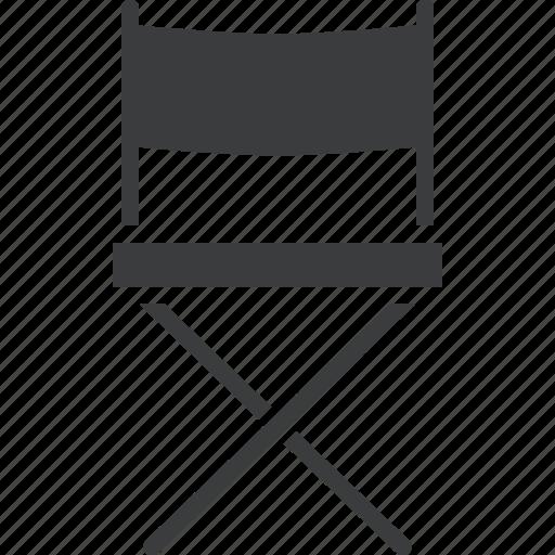 chair, cinema, director, film, movie, set icon