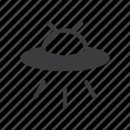 aeronautic, alien, fiction, space, spacecraft, spaceship, ufo icon