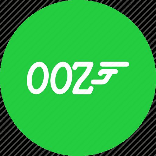agent, bond, gun, spy icon