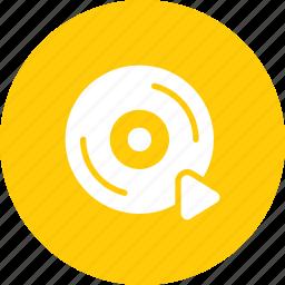 cd, disc, dvd, media, movie, play, video icon