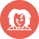 character, chucky, horror, movie, murder, scary, violence icon