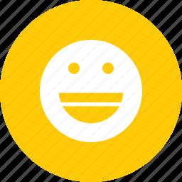 emoticon, emotion, fun, genre, happy, laugh, smiley icon
