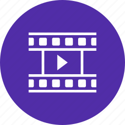 cinema, film, movie, play, reel, watch icon
