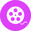 cinema, film, movie, reel, roll icon