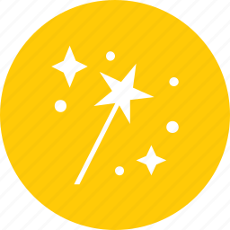 fantasy, magic, magician, star, wand, witch icon