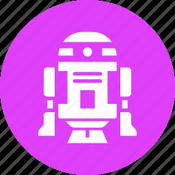 d2, movie, r2, r2d2, robot, space, starwars icon