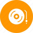 play, movie, deejay, record, turntable, music, party icon
