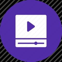 cinema, movie, play, player, video icon