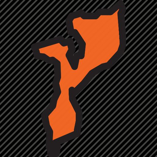 lusophone, mozambique, outline, sub-saharan icon