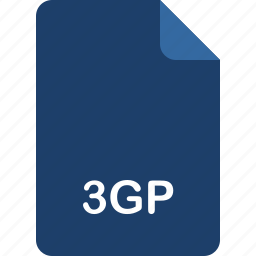3gp, video format icon