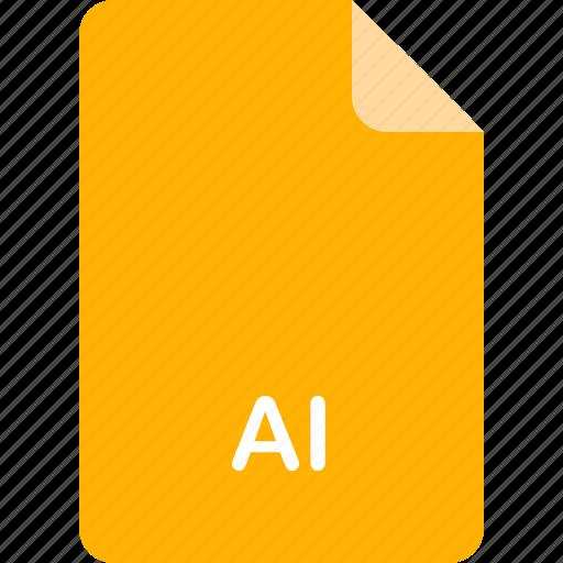 adobe, ai, file, illustrator, vector format icon