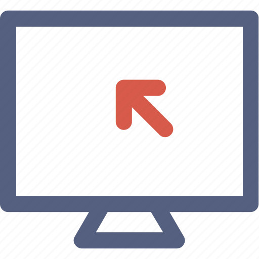 click, lcd, monitor, mouse, track icon icon