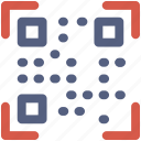 code, qr, qr code, scan, scanner icon icon