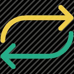 arrows, loop, repeat icon icon