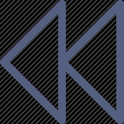 audio, backward, square, video icon icon