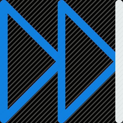audio, forward, square, video icon icon