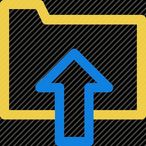 folder, up, upload icon icon