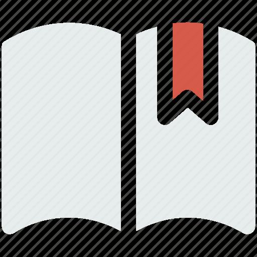 book, bookmark, label, ribbon, sticker, tag icon icon
