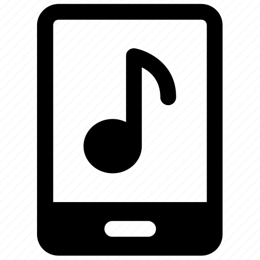 media, mobile music, mobile screen, modern technology, music sign, smartphone icon icon