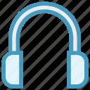 audio, earphone, headphone, headset, listening, multimedia, music, sound icon