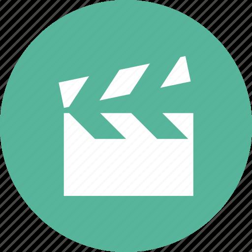 cinema, clapper, director, film, movie icon