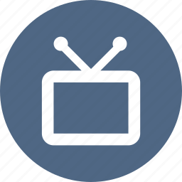 antenna, media, monitor, screen, television, tv icon