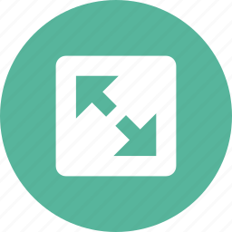 arrows, enlarge, expand, full, maximize, resize, screen icon