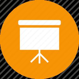 display, presentation, projector, screen icon