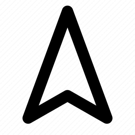 arrow, direction, location, map, move, navigation, pointer icon