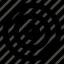 aim, arrow, direction, focus, goal, pointer, target icon