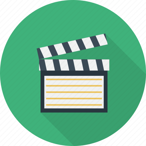 clapboard, clapper, director, motion, multimedia, production icon