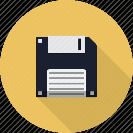 diskette, floppy, media, memory, multimedia, storage icon