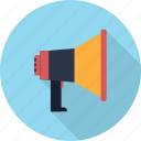 announcement, broadcasting, loudspeaker, megaphone, speaker icon