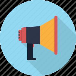 announcement, broadcasting, loudspeaker, megaphone, speaker icon