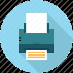 document, machine, multimedia, page, paper, printer, printout icon