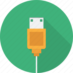 cable, connection, connector, hardware, plug, usb icon